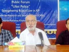 PESHAWAR: Senior Journalist Raheem Ullah Zai Addressing in Seminar.