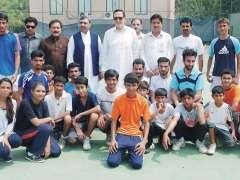 PESHAWAR: Group photo of training camp along with President Pakistan Tennis Federation Saleem Ullah.