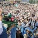 دیربالا: امیر جماعت اسلامی سینیٹر سراج الحق کلکوٹ دیر بالا میں جلسہ عام سے خطاب کر رہے ہیں۔