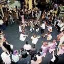 پشاور: پاکستان ٹریول مارٹ میں سندھ رقص پیش کیا جار ہا ہے۔