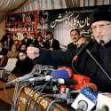 لاہور: عومی تحریک کے سربراہ ڈاکٹر طاہرالقادری عوامی تحریک کے مرکزی سیکرٹریٹ میں منعقدہ آل پاکستان وکلاء کنونشن سے خطاب کر رہے ہیں۔