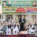 لاہور: صوبائی وزیر پلاننگ اینڈ ڈویلپمنٹ ملک ندیم کامران ساہیوال جمخانہ کرکٹ اسٹیڈیم کی تعمیر نو کے حوالے سے منعقدہ تقریب سے خطاب کر رہے ہیں۔