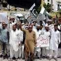 کراچی: پریس کلب کے باہر پاکستانی بنگالیز ایکشن کمیٹی کے زیر اہتمام مطالبات کے حق میں احتجاج کیا جار ہا ہے۔