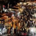 راولپنڈی: ٹرنک بازار میں خریداروں کے رش کا منظر۔