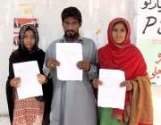 کراچی: کراچی پریس کلب کے سامنے حسین آباد کے رہائشی اپنے گھر پر قبضے ..