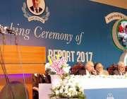 لاہور: صوبائی وزیر خزانہ ڈاکٹر عائشہ غوث پاشا پنجاب اکنامک رپورٹ2017ء ..