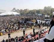 راولپنڈی: پروفیسر حافظ سعید احمد تحفظ بیت المقدس کانفرنس کے موقع پر ..