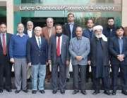 لاہور: چیف کلکٹر کسٹمز کراچی محمد زاہد کھوکھر کا لاہور چیمبر کے صدر ..