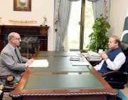 اسلام آباد: وزیر اعظم نواز شریف سے وزیر اعظم کے مشیر برائے قومی تاریخ ..