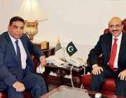 اسلام آباد: صدر آزاد کشمیر سردار مسعود خان سے ممبر برطانوی پارلیمنٹ ..