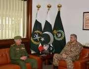 راولپنڈی: آرمی چیف جنرل قمر جاوید باجوہ سے بحرین نیشنل گاڈر کے کمانڈر ..
