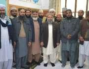 لاہور: جامعہ نعیمیہ کے ناظم اعلیٰ علامہ ڈاکٹر محمد راغب نعیمی کے ساتھ ..