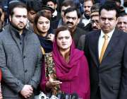 اسلام آباد: وفاقی وزیر برائے اطلاعات و نشریات مریم اورنگزیب میڈیا سے ..