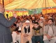 صوابی: سپیکر خیبر پختونخوا اسمبلی اسد قیصر راحت آباد میں منعقدہ تقریب ..
