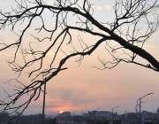 اسلام آباد: وفاقی دارالحکومت میں شام کے وقت غروب آفتاب کا خوبصورت منظر۔