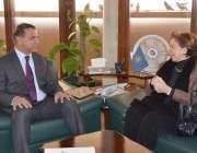 لاہور: چیئرمین واپڈا لیفٹیننٹ جنرل (ر) مزمل حسین سے پاکستان میں متعین ..