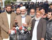 اسلام آباد: سپریم کورٹ میں پاناما لیکس کیس کی سماعت کے بعد امیر جماعت ..