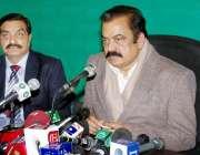 لاہور: صوبائی وزیر قانون راناء ثناء اللہ خان اور صوبائی وزیر انسداد ..
