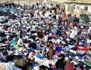 حیدر آباد: شہریوں کی بڑی تعداد پرانے گرم کپڑے خریدنے میں مصروف ہے۔
