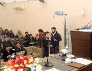 لاہور: صوبائی وزیر تعلیم رانا مشہود احمد خان مانیٹرنگ اینڈ ایویلویشن ..