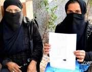 حیدر آباد: کسانہ موری کی رہائشی خواتین پولیس کے خلاف انصاف کے لیے احتجاج ..