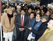مظفر آباد: وزیر اعظم آزاد کشمیر راجہ فاروق حیدر خان کو آر سی سی پل ٹھوٹھہ ..