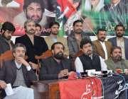 کوئٹہ: پاکستان پیپلز پارٹی بلوچستان کے صدر علی مدد جتک پریس کانفرنس ..