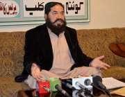 کوئٹہ: عوامی ایکشن کمیٹی حب ضلع لسبیلہ کے چیئرمین یعقوب ساسولی پریس ..