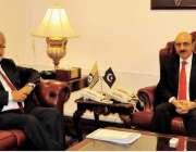 اسلام آباد: صدر آزاد کشمیر سردار مسعود خان سے چیئرمین ایچ ای سی ڈاکٹر ..