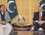 اسلام آباد: صدر آزاد کشمیر سردار مسعود خان سے قائمقام وزیر اعظم آزاد ..