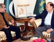 اسلام آباد: صدر مملکت ممنون حسین سے وزیر ریلوے خواجہ سعد رفیق ملاقات ..