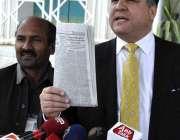 اسلام آباد: پاکستان مسلم لیگ (ن) کے رہنما دانیال عزیز میڈیا سے گفتگو ..