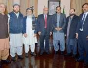 لاہور: گورنر پنجاب ملک محمد رفیق رجوانہ کا ملاقات کرنیوالے ارکا اسمبلی ..