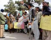کوئٹہ: معذوران بلوچستان کے زیر اہتمام مطالبات کے حق میں ڈائریکٹوریٹ ..