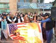 کوئٹہ: جماعةالدعوة کے بلوچستان زیر اہتمام امریکہ اور بھارت کا جھنڈا ..