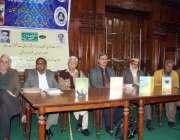 لاہور: بزم وارث شاہ (رح) پاکستان کے زیر اہتمام منعقدہ تقریب کے موقع پر ..