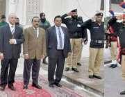 ملتان: چیف جسٹس لاہور ہائیکورٹ مسٹر جسٹس سید منصور علی شاہ کو ملتان ..