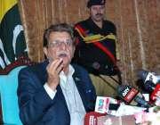 اسلام آباد: وزیر اعظم آزاد جموں و کشمیر راجہ فاروق حیدر خان پریس کانفرنس ..