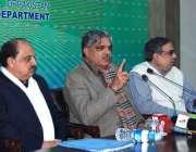 اسلام آباد: وفاقی وزیر برائے کشمیر افیئر اور گلگت بلتستان محمد برجیس ..