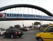 اسلام آباد: کشمیری عوام سے اظہار یکجہتی کے لیے بینر آویزاں کیا گیا ہے۔