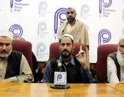 پشاور: قوم خوگہ خیل شنواری کے مشران برکت اللہ شینواری پریس کانفرنس ..