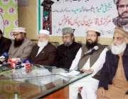 لاہور: ملی یکجہتی کونسل پاکستان کے زیر اہتمام حافظ سعید کی رہائی کے ..