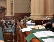 لاہور: ڈپٹی اسپیکر سردار شیر علی خان گورچانی پنجاب اسمبلی کے اجلاس ..