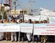 پشاور: یونیورسٹی ٹاؤن کے رہائشی اپنے مطالبات کے حق میں احتجاجی مظاہرہ ..