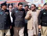 راولپنڈی: ایس پی ملک اقبال پیر ودہائی میں سیکیورٹی کے حوالے سے لاری ..