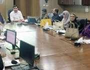 لاہور: صوبائی وزیر پرائمری اینڈ سیکنڈری ہیلتھ پنجاب خواجہ عمران ندیر ..