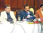 لاہور: صوبائی وزیر قانون و پارلیمانی امور رانا ثناء اللہ خان 90شاہراہ ..