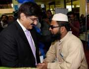 کراچی: وزیر اعلیٰ سندھ سید مراد علی شاہ یبلٹیز ایکسپو میں خصوصی افراد ..