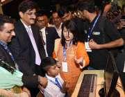 کراچی: وزیر اعلیٰ سندھ سید مراد علی شاہ ایبلٹیز ایکسپو میں خصوصی افراد ..