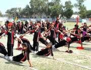 حیدر آباد: کنٹری کیمبرج سکول اینڈ گرلز کالج کی طالبات سالانہ سپورٹس ..